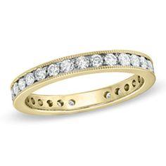 1 CT. T.W. Pavé Diamond Eternity Wedding Band in 18K Gold