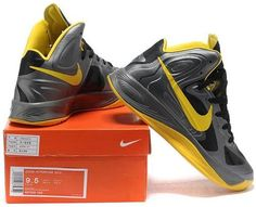 http://www.asneakers4u.com/ Nike Zoom Lebron 10 X  Shoes Gray/Yellow