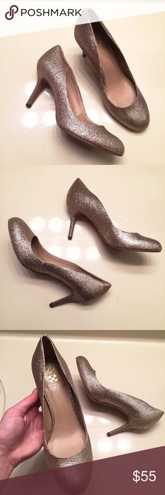 NEW sparkly Vince Camuto heels size 7 Brand new, never worn, and still with tags. Sparkly heels by Vince Camuto. They're a color combination of gold and silver. Women's size 7 Vince Camuto Shoes Heels