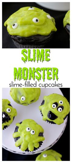 Slime Monster cupcak