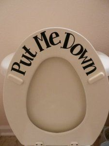 Amazon.com: Put ME Down (Toilet vinyl sticker): Home & Kitchen