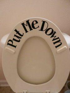 Amazon.com: Put ME Down (Toilet vinyl sticker): Home & Kitchen