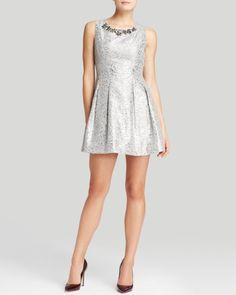 JOA Dress - Jacquard Metallic | Bloomingdales's