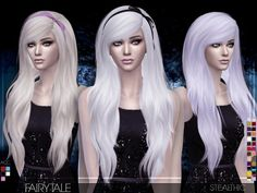 The Sims Resource: Stealthic - Fairytale hairstyle • Sims 4 Downloads