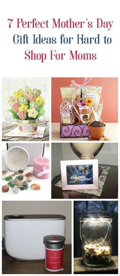 As a mom who is notoriously hard to shop for, I can honestly say I'd love any of these 7 incredibly neat & original Mother's Day gift ideas! Check them out!