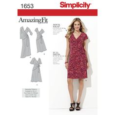 Find a pattern for Misses' & Plus Sizes Amazing Fit Knit Dress at Simplicity, plus many more unique patterns. Visit today!
