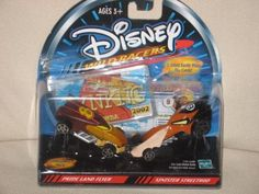 "DISNEY WILD RACERS ""PRIDE LAND FLYER,"" & ""SINISTER STREET ROD"" - 1/64 SCALE-DIE CAST METAL BODY by HASBRO, http://www.amazon.com/dp/B004B6CT9E/ref=cm_sw_r_pi_dp_ry4rrb0NS4XYS"