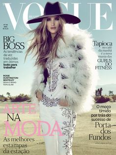 Rosie Huntington-Whiteley is Pure Glamour in Vogue Brazil's April 2013 Cover Shoot | Fashion Gone Rogue: The Latest in Editorials and Campaigns