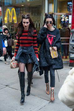 Kendall Jenner + Bella Hadid