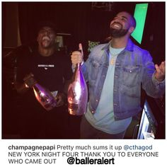 Drake and Charlamagne Tha God share a laugh at Funk Flex's expense at Madison Square Garden's Summer stop. Funk Flex, Uber Codes, Charlamagne Tha God, New York Night, Hot 97, Hip Hop And R&b, Pop Bottles, Rap Battle, Slimming World