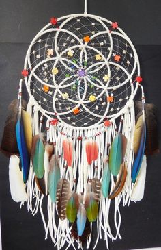 Seed Of Life Sacred Chakra Dreamcatcher by montse.esquivel.779