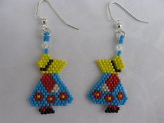 I found this pattern in a bead magazine done in brick stitch but I did it in peyote.