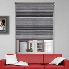 Controliss Luxe Monochrome battery powered roller blind. #Home #HomeDecor #InteriorDesign #Decor #RollerBlinds  #CreateYourHome #BudgetBlinds #WindowShades #Window  #Design #Blind #WindowCoverings #Windows #MadeinUK