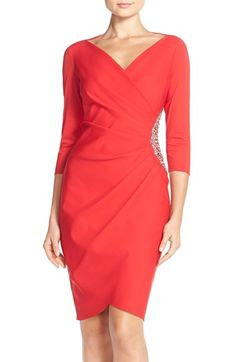 Alex Evenings Embellished Scuba Sheath Dress (Petite) available at #Nordstrom