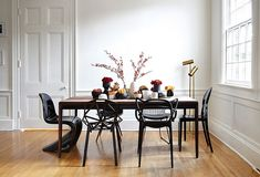 Black Panton chairs