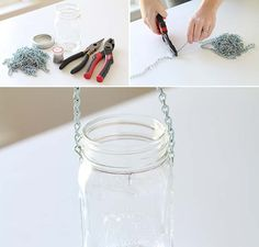 This cute DIY mason jar hanging lantern is so easy to make. See the tutorial on The Home Depot Blog.