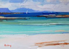 Roberts inspiration, painting at Arisaig, and Sketching on Iona, in the West coast of Scotland.