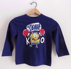 2⃣▪5⃣0⃣ @SalesForToday. also check out www.stores.ebay.com/jenscreationstx..  Toddler Boys Long Sleeve Silly Boxer Graphic Tee Shirt - Sz 5T - Blue