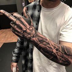 Badass Sleeve Tattoo Ideas For Guys - Best Sleeve Tattoos For Men: Cool Full Sle.Badass Sleeve Tattoo Ideas For Guys - Best Sleeve Tattoos For Men: Cool Full Sleeve Tattoo Ideas and Designs Dope Tattoos, Badass Sleeve Tattoos, Half Sleeve Tattoos For Guys, Forearm Sleeve Tattoos, Hand Tattoos For Guys, Full Sleeve Tattoos, Tattoo Sleeve Designs, Skull Tattoos, Tattoo Designs Men