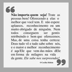 Publicação do Instagram de Cᴇᴄɪʟɪᴀ Sғᴀʟsɪɴ • 20 de Jul, 2018 às 9:07 UTC Portuguese Quotes, Reflection Quotes, Jesus Freak, Powerful Words, Feel Good, Texts, Pray, Faith, Messages