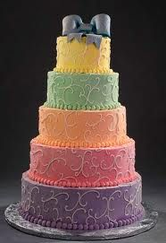 coloeful wedding cake - Google Search