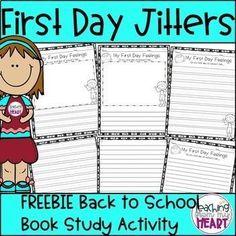First Grade Jitters, First Day First Grade, First Grade Writing, First Day School, Beginning Of School, Writing A Book, Kindergarten First Week, First Week Activities, Back To School Activities