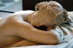 Hermaphroditus sleeping ~ The son of Hermes and Aphrodite ~ Louvre ~ Paris