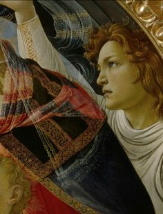 Sandro Botticelli ~ The Madonna of the Magnificat (detail), 1483-85