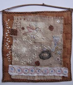 Some of my fabric collages from the past and a few new things....