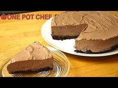 The One Pot Chef Show: No Bake Chocolate Cheesecake No Bake Chocolate Cheesecake, Chocolate Cookies, Cheesecake Recipes, Dessert Recipes, Desserts, One Pot Chef, Yummy Treats, Yummy Food, Chef Recipes
