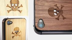 Wooden Skull iphone case