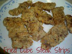 Gramma's in the kitchen: Fried Cube Steak Strips