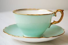 Crown Staffordshire teacup and saucer from TanglewoodTeaShop
