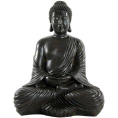 "17"" Japanese Sitting Buddha Statue ($67) ❤ liked on Polyvore featuring home, home decor, fillers, decor, extras, accessories, buddha figurine, geometric figure, japanese statue and buddha hand statue"