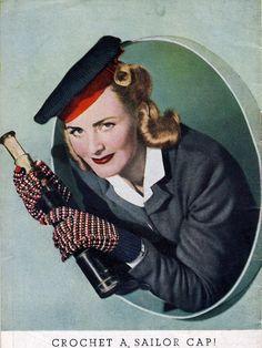 vintage 1942 #crochet pattern for wartime sailor cape