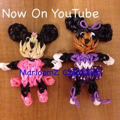 Rainbow Loom Minnie Mouse Tutorial on YouTube on: MarloomZ Creations