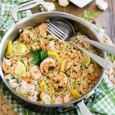 You won't believe the amount of flavor that this Garlic Butter Lemon Shrimp dish boasts. Serve with pasta, rice, quinoa or zoodles for a quick and easy meal Low Carb Recipes, Diet Recipes, Healthy Recipes, Recipies, Lemon Shrimp Pasta, Preserved Lemons, Braised Beef, Shrimp Dishes, How To Cook Shrimp