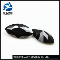 Source black semi-precious stone 4x8mm marquise shape cz cubic zirconia loose black diamonds carat prices on m.alibaba.com