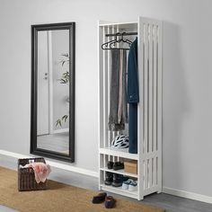 Shoe, coat & hat racks - IKEA Outdoor Shoe Storage, Shoe Storage Unit, Coat Storage, Bench With Shoe Storage, Ikea Storage, Storage Racks, Rack Shelf, Coat Rack Ikea, Diy Coat Rack