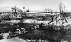 Cape Arago Light Station in the Lighthouses In Oregon, Southern Oregon Coast, Oregon Waterfalls, Evergreen Forest, Covered Bridges, Pacific Northwest, Paris Skyline, 1930s, Landscape