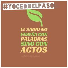 ¿Qué dicen mis acciones a la hora de conducir? Seamos el cambio! #YOCEDOELPASO  www.facebook.com/CampanaYoCedoElPaso