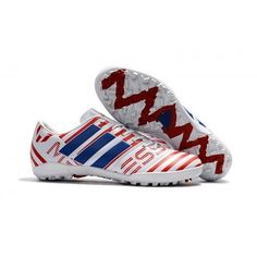 Cheap Adidas Nemeziz 17-3 TF Football Boots Red Blue White