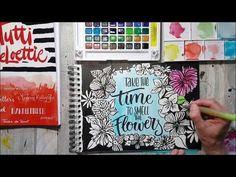 Tineke de Raat: Instagram en brushlettering met bloemen.