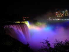 Every evening since 1925 people can witness the Niagara Falls being painted in the colors of the rainbow. Description from tripsgeek.com. I searched for this on bing.com/images