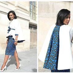 "**** ELIE KUAMé **** Mode] 7 inspirations looks en wax pour la ""Working girl . African Print Dresses, African Fashion Dresses, African Dress, African Prints, African Attire, African Wear, African Women, African Inspired Fashion, African Print Fashion"