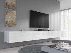 TV-Meubel Flame - Wit - 300 cm