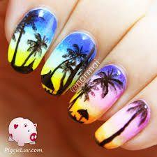 Image result for sunset nails