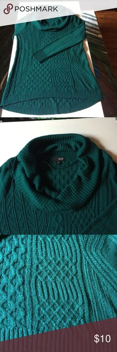Royal blue, cowl-neck sweater