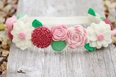 Spring+Felt+Flower+Crown++Flower+Girl+Headband+by+LaLaLolaShop,+$36.00