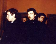 Ian Curtis, Bernard Sumner, Peter Hook, and Stephen Morris. <3 <3 <3 I love the JD boys